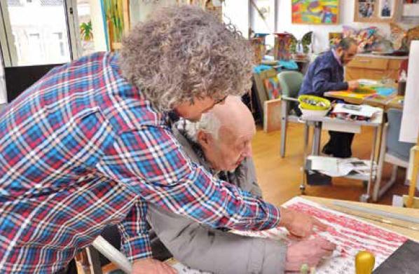 Schilderkunst in een zorgcentrum, de kunst van het loslaten